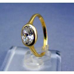 Zlatý dámsky prsteň so zirkónom v tvare oka žlté zlato VP52187Z