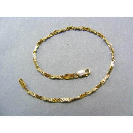 Zlatý náramok vzor točená pílka
