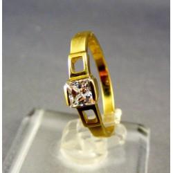 Zlatý dámsky prsteň so zirkónom žlté zlato VP55237Z