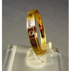 Zlatý dámsky prsteň so zirkónom žlté zlato VP57240Z