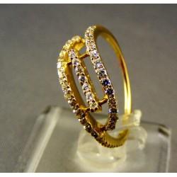 Zlatý dámsky prsteň jemne ozdobený žlté zlato VP55251/1Z