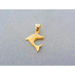Zlatý prívesok delfín žlté zlato VI076Zst 277807482a9