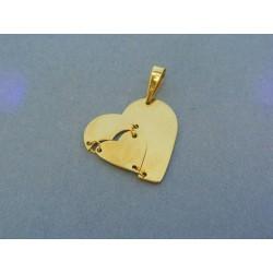 Zlatý prívesok srdiečko žlté zlato VI176Zmo 5f8db4adbed