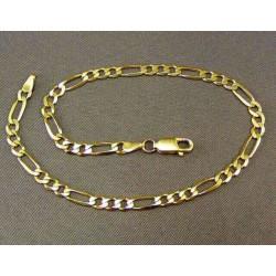 Zlatý náramok vzor figaro VN23549