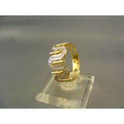 Zlatý dámsky prsteň s vlnkami žlté zlato VP58364Z
