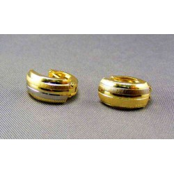 Zlaté náušnice viacfarebné zlato VA216