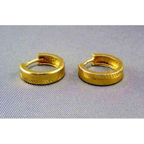 Zlaté náušnice malé kruhy
