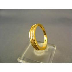 Zlatý dámsky prsteň so zirkónmi žlté zlato VP56277Z