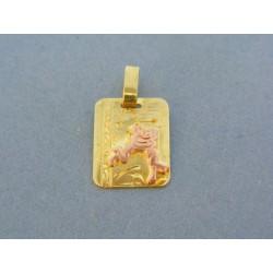 Zlatý prívesok znamenie žlté červené zlato VI197V