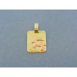 Zlatý prívesok znamenie kozorožec žlté červené zlato VI210V