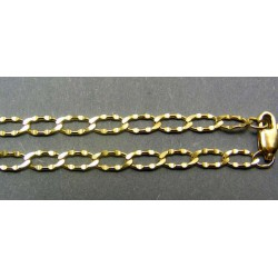 Zlatá retiazka  žlté zlato vzor vzorované očká VR45741
