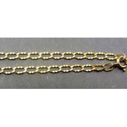 Zlatá retiazka vzorované očká žlté zlato VR50476