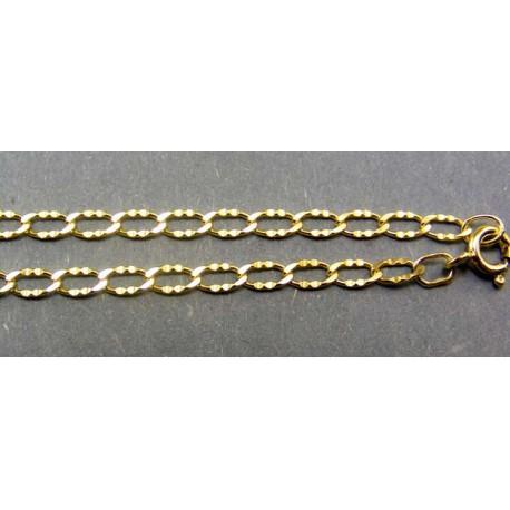Zlatá retiazka vzorované očká žlté zlato