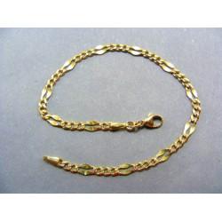 Zlatý náramok žlté zlato vzor zrno VN19365Z