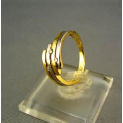 Zlatý prsteň dámsky dvojfarebné zlato VP51231V