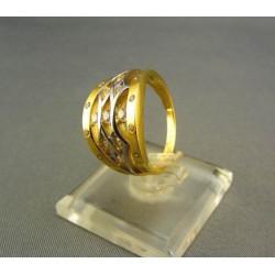 Zlatý prsteň viacfarebný s kamienkami VP56565V