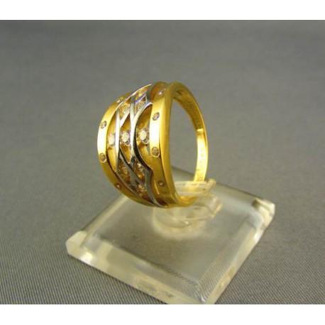 Dámsky prsteň viacfarebný s kamienkami