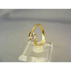 Zlatý dámsky prsteň elegantný žlté zlato VP54185