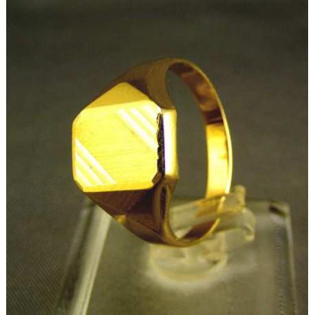 Zlatý pánsky prsteň žlté zlato