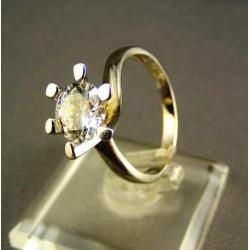 Zlatý dámsky prsteň biele zlato s veľkým zirkónom VP55396B