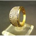 Zlatý dámsky prsteň s malými kamienkami žlté zlato VP57506Z