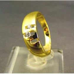 Zlatý dámsky prsteň vyrezávany žlté zlato VP55395Z