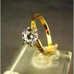 Zlatý dámsky prsteň s korunkou žlté zlato VP54192Z