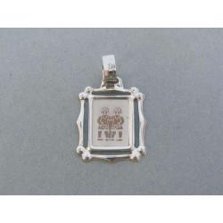 Zlatý prívesok znamenie blíženci biele zlato VI162BN
