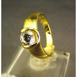 Zlatý dámsky prsteň so zirkónom žlté zlato VP53463Z