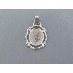 Zlatý prívesok znamenie panna biele zlato VI142B