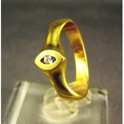 Zlatý dámsky prsteň jednoduchý žlté zlato VP55330Z
