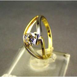 Zlatý dámsky prsteň  viacfarebné zlata DP53400V