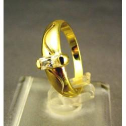 Zlatý dámsky prsteň so zirkónom žlté zlato DP52261Z