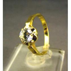 Zlatý dámsky prsteň v tvare kvietka žlté zlato DP55242Z