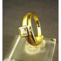 Zlatý dámsky prsteň so zirkónom žlté zlato DP52271Z