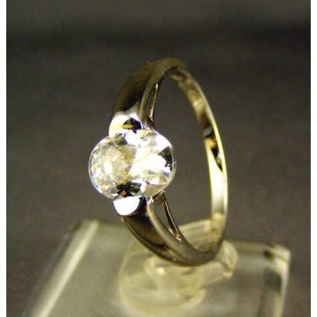 Zlatý dámsky prsteň biele zlato