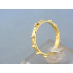 Zlatý prsteň ruženec žlté zlato DP56261Z