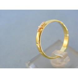 Zlatý prsteň ruženec žlté zlato DP60329Z