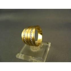 Zlatý dámsky prsteň  viacfarebné zlata VP54293V