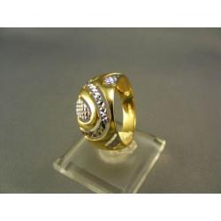 Zlatý prsteň elegantný dámsky viacfarebné zlato VP59365V