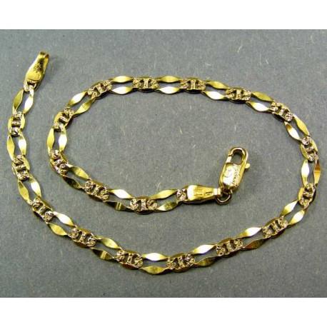 Náramok vzor zrno žlté zlato
