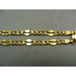 Zlatá retiazka zlato žlté malé platničky a očká VR501165