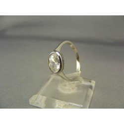 Zlatý dámsky prsteň biele zlato so zirkónom VP54245B