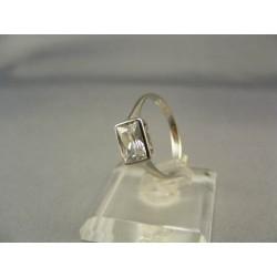 Zlatý dámsky prsteň biele zlato so zirkónom VP54205B