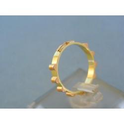 Zlatý prsteň ruženec žlté červené zlato DP50210V