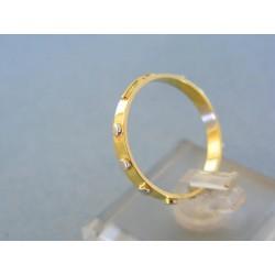 Zlatý prsteň ruženec žlté biele červené zlato DP59208V