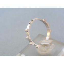 Zlatý prsteň ruženec biele zlato VP53221B