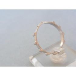 Zlatý prsteň biele zlato tvar ruženec VP61239B