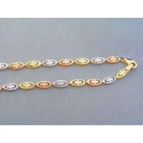 8218bc559 Zlatá retiazka trojfarebné zlato VR46670V