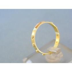 Zlatý prsteň ruženec dvojfarebné zlato zirkóny VP57178V